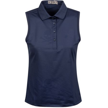 Golf undefined Womens Skull & T's Embossed Sleeveless Polo Twilight - AW19 made by G/FORE