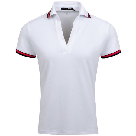Golf undefined Womens V Neck Stripe Detail Pique Pure White - AW19 made by Polo Ralph Lauren