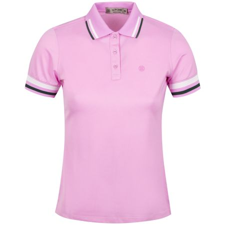 Golf undefined Womens Tipped Polo Violet - AW19 made by G/FORE