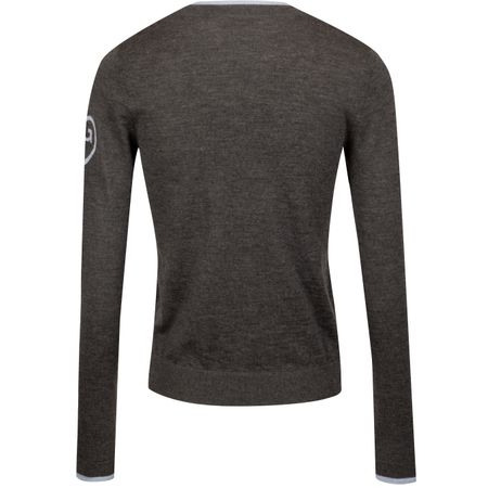 Golf undefined Womens Zipped Crew Sweater Heather Grey - AW19 made by G/FORE