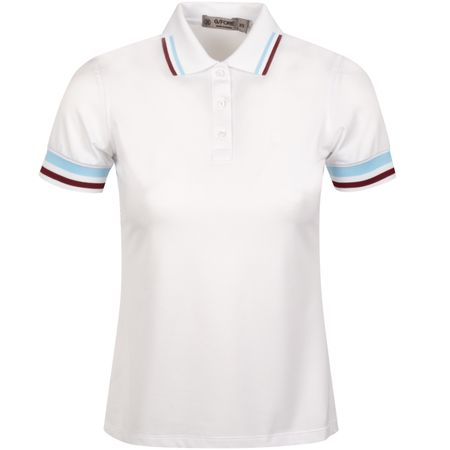 Golf undefined Womens Tipped Polo Snow - AW19 made by G/FORE