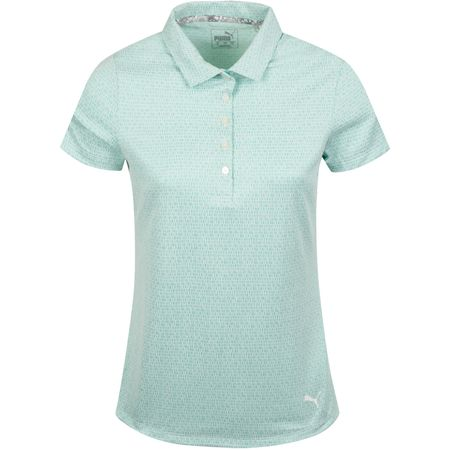 Golf undefined Womens Swift Polo Blue Turquoise/Bright White - AW19 made by Puma Golf