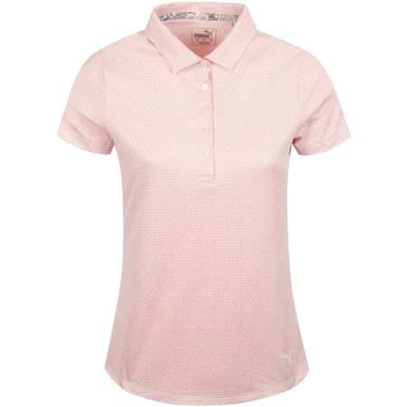 Golf undefined Womens Swift Polo Bridal Rose/Bright White - AW19 made by Puma Golf