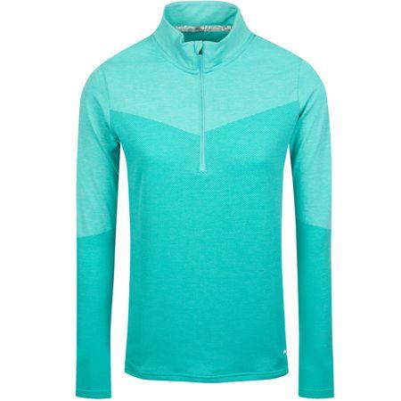 MidLayer Womens Evoknit Quarter Zip Blue Turquoise - AW19 Puma Golf Picture