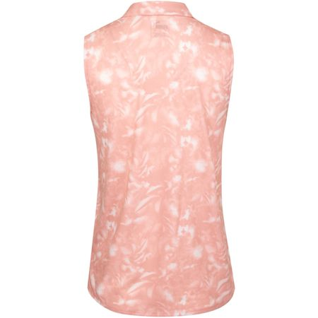 Golf undefined Womens Flower Sleeveless Polo Bridal Rose - AW19 made by Puma Golf