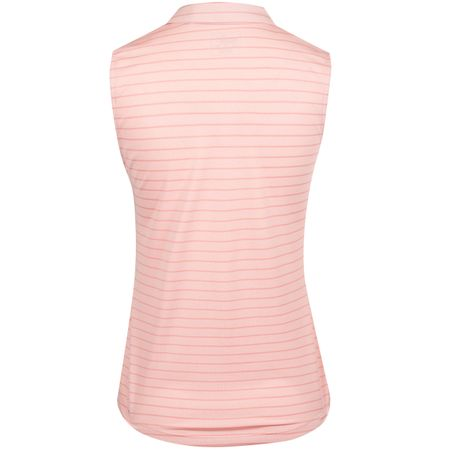 Polo Womens Rotation Stripe SL Polo Bridal Rose - AW19 Puma Golf Picture