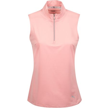 Shirt Womens Sleeveless Mock Bridal Rose - AW19 Puma Golf Picture