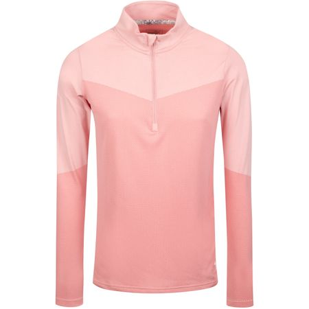 Golf undefined Womens Evoknit Quarter Zip Bridal Rose Heather - AW19 made by Puma Golf