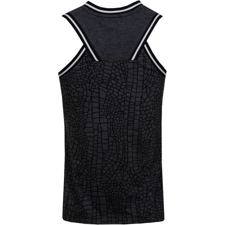 Golf undefined Womens Burnout Knit Sleeveless Polo Black made by Nike Golf