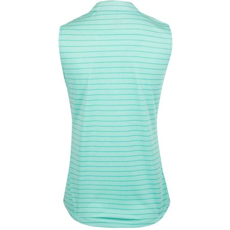 Golf undefined Womens Rotation Stripe SL Polo Blue Turquoise - AW19 made by Puma Golf