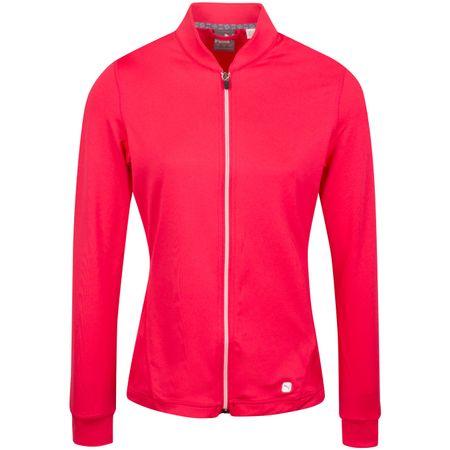 MidLayer Womens Full Zip Knit Jacket Azalea - AW19 Puma Golf Picture