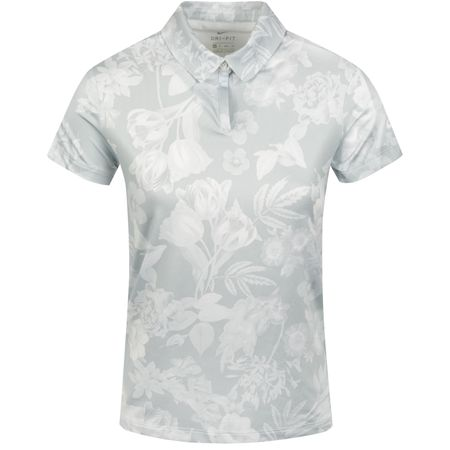 Polo Womens Dri-Fit UV Floral Polo Pure Platinum Nike Golf Picture