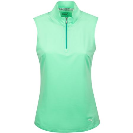 Golf undefined Womens Sleeveless Mock Green Glimmer - AW19 made by Puma Golf