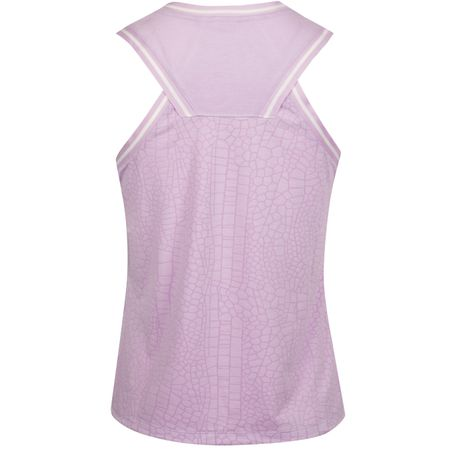 Golf undefined Womens Burnout Knit Sleeveless Polo Lilac Mist made by Nike Golf