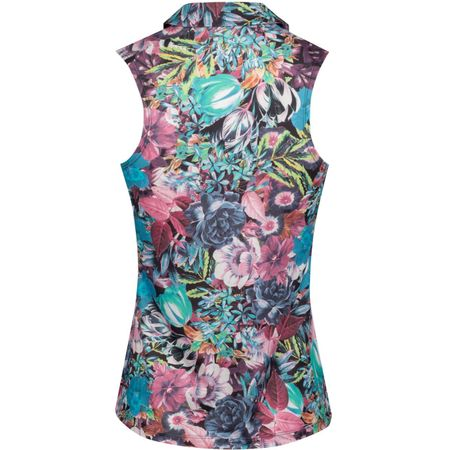 Polo Womens Dry Sleeveless Floral Polo Active Fuchsia Nike Golf Picture