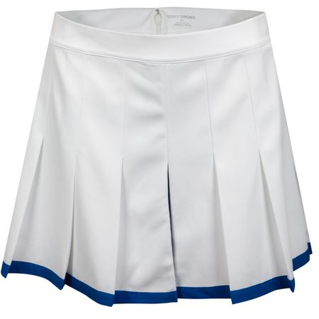 Golf undefined Womens Tech Twill Pleated Tennis Skirt Snow White made by Tory Sport