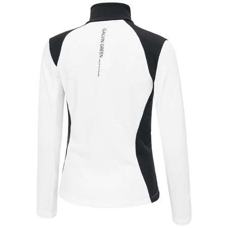 Golf undefined Womens Dorothy Insula FZ Jacket White/Black - SS19 made by Galvin Green