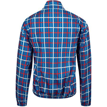 Golf undefined Womens Print Golf Windbreaker Surf Blue Tandem Plaid made by Tory Sport