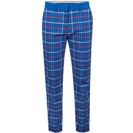 Golf undefined Womens Tech Stretch Twill Golf Pants Surf Blue Tandem Plaid made by Tory Sport