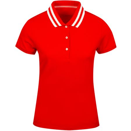Golf undefined Womens Pleated Collar Polo Red made by Tory Sport