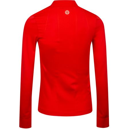 Golf undefined Womens Seamless Quarter Zip Pullover Red made by Tory Sport