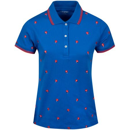 Golf undefined Womens Performance Pique Polo Surf Blue Dear Flower made by Tory Sport