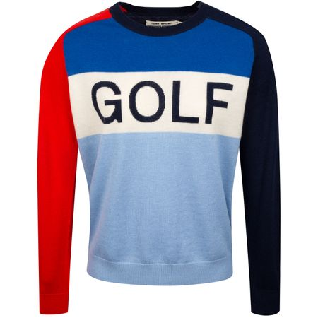 Hoodie Womens Cashmere Golf Sweater Tory Navy/Ace Blue Tory Sport Picture