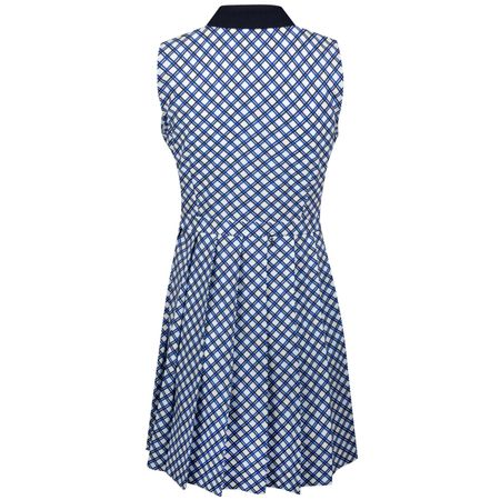 Golf undefined Womens Printed Pleated Golf Dress Surf Blue Baseline Plaid made by Tory Sport