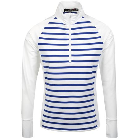 Golf undefined Womens Stripe Powerstretch Quarter Zip Pure White - SS19 made by Polo Ralph Lauren