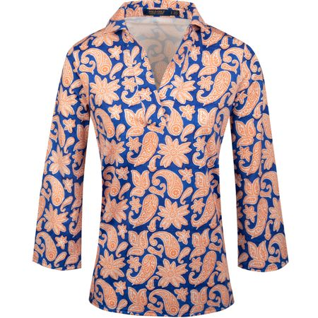 Golf undefined Womens Performance Printed Tunic Poppy Bermuda Paisley - SS19 made by Polo Ralph Lauren