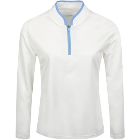 Golf undefined Womens Performance LS Half Zip Snow White/Ace Blue made by Tory Sport