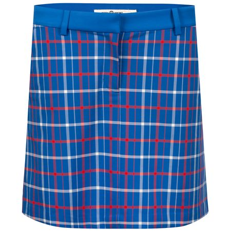 Golf undefined Womens Tech Stretch Twill Golf Skirt Surf Blue Tandem Plaid made by Tory Sport