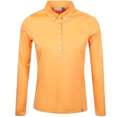 Golf undefined Womens Scotscraig Polo LS Orange Flower - SS19 made by Kjus