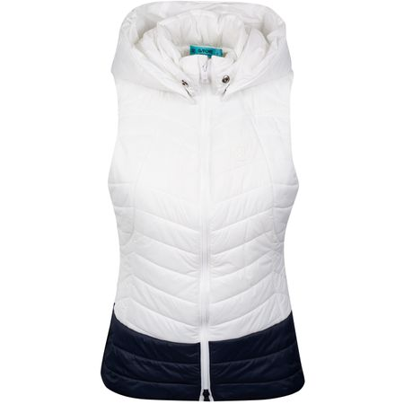 Hoodie Womens Hooded Puffer Vest Snow/Twilight - SS19 G/FORE Picture