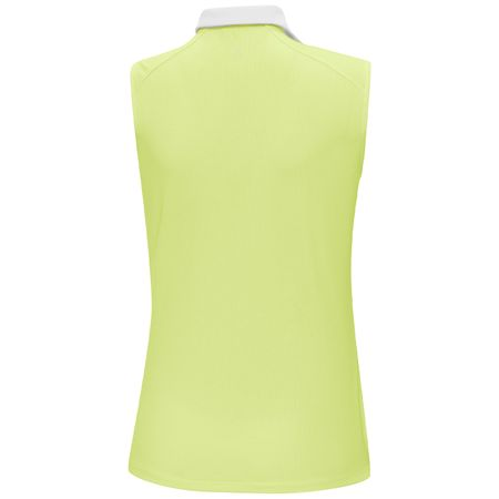 Golf undefined Womens Mia Ventil8+ Sleeveless Polo Sunny Lime/White - SS19 made by Galvin Green