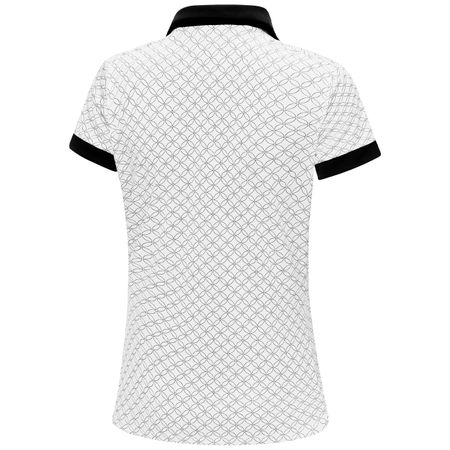 Polo Womens Maylin Ventil8+ Polo White/Black - SS19 Galvin Green Picture