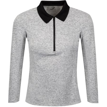 Golf undefined Womens Leopard Lounge Polo Bianco Marl - 2019 made by Foray Golf