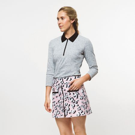 Polo Womens Leopard Lounge Polo Bianco Marl - 2019 Foray Golf Picture