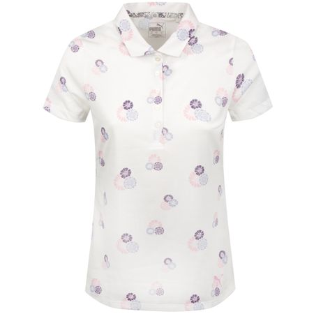 Golf undefined Womens Blossom Polo Bright White/Sweet Lavender - SS19 made by Puma Golf