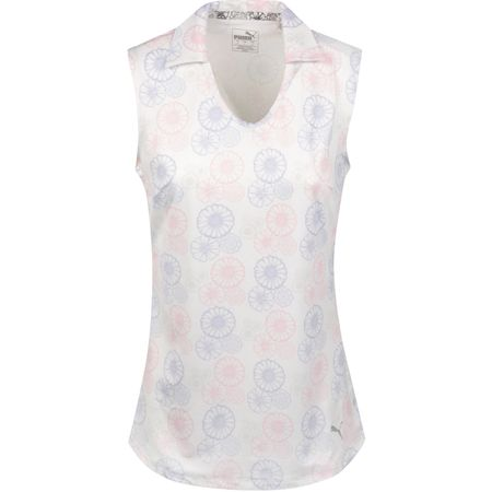 Golf undefined Womens Blossom Sleeveless Polo Bright White/Sweet Lavender - SS19 made by Puma Golf