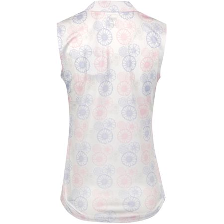 Polo Womens Blossom Sleeveless Polo Bright White/Sweet Lavender - SS19 Puma Golf Picture