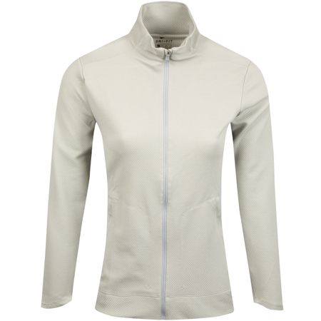 Golf undefined Womens Dry UV Full Zip Mid Wolf Grey - SS19 made by Nike Golf