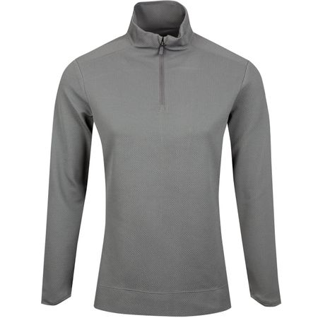 Golf undefined Womens Dry UV Quarter Zip Mid Dark Grey/White - SS19 made by Nike Golf