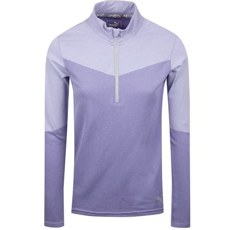 MidLayer Womens Evoknit Quarter Zip Sweet Lavender Heather - SS19 Puma Golf Picture