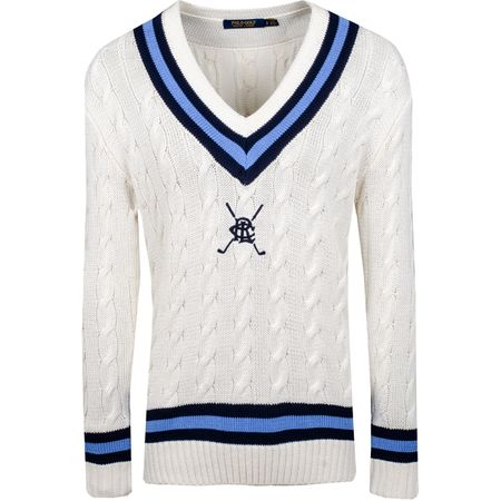 Golf undefined Womens Cricket Sweater Cream Multi - SS19 made by Polo Ralph Lauren