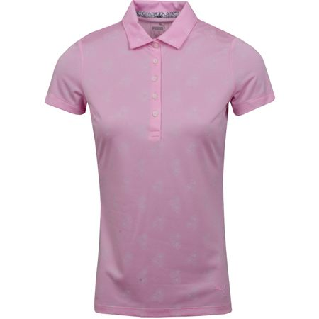 Polo Womens Burst Into Bloom Polo Pale Pink - SS19 Puma Golf Picture