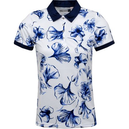 Golf undefined Womens Enya Printed Polo White - SS19 made by Kjus