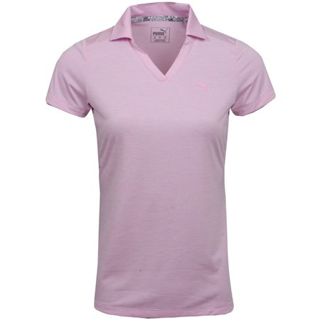 Golf undefined Womens Super Soft Polo Pale Pink Heather - SS19 made by Puma Golf