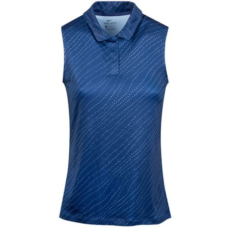 Polo Womens Dry Sleeveless Floral Polo Blue Void - SS19 Nike Golf Picture
