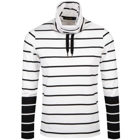 Hoodie Womens Extreme Jersey Funnel Neck Polo Black/Pure White - SS19 Polo Ralph Lauren Picture
